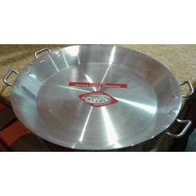 Paellera Uso Rudo De Aluminio Triple Fuerte 90 Cms