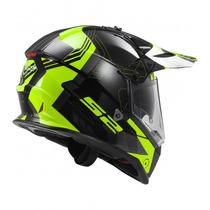 Casco Ls2 Mx 436 Pionner Black Doble/visor Envio Gratis