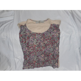 Remera Zara Flores Delante Lisa Atras Talle S Made In Romani