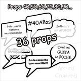 Props B&w (hombre Ó Mujer) Kit Para Imprimir 36 Props