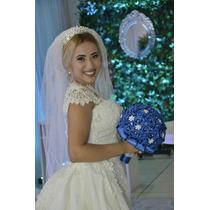 Promoção Buquê Bouquet De Noiva Artificial Perolas E Brochê