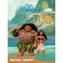 Livro Disney - Vamos Colorir - Moana