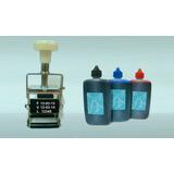 Kit Datador Triplo + 1 Tinta Preta + 10 Almofadas