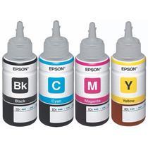 Tinta Original Epson L110 L210 L350 L355 L555, T664 Kit 4 Pz