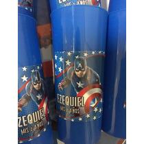 Vasos Personalizados Cotillon Souvenirs Capitan America X15