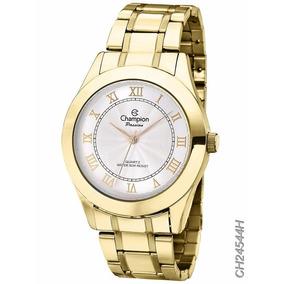 Relógio Champion Banhado A Ouro 18k Ch24544h - Original + Nf