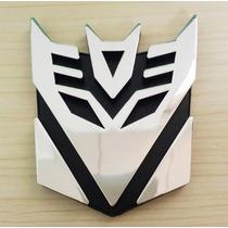 Emblema Adesivo Transformers Decepticons Pvc Frete Fixo 8,00