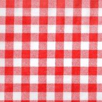 Toalha De Tnt Xadrez Vermelho 1,40m X 2,00m - Unitário