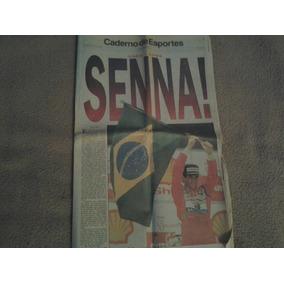 Raridade - Caderno De Esportes O Globo - Ayrton Senna