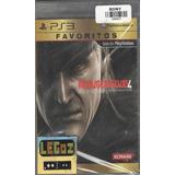Legoz Zqz Metal Gear Solid 4 Ps3 Sellado -ref 1057