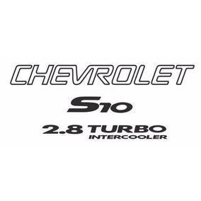 Adesivo S10 + 2.8 Turbo Intercooler + Faixa Preta - Até 2005