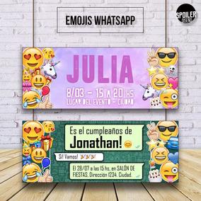 Invitaciones / Tarjetas De Cumpleaños - Emojis / Emoticones