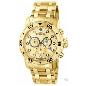 Relógio Invicta Pro Diver 0074 Dourado Masculino 1a Linha