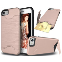 Estuche Iphone 7 Ranura Tarjeta Crédito Pata Cabra Híbrido A