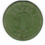 Ficha Club De La Union 1892 1 Peso Chile