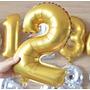 Globos Metalizados Numericos Numeros Letras 40 Cm Cumpleaños