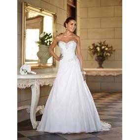 Vestido De Noiva Chiffon Importado Pronta Entrega No Brasil