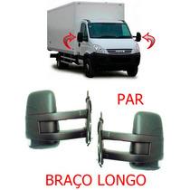 Par Retrovisor Iveco Daily Ano 08 A 15 Braço Longo Manual