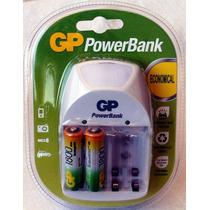 Pilas Recargables Aa Gp 1800mah C/cargador Ac Powerbank Pb11
