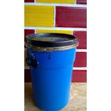 Tacho-tambor Plastico 40 Lts Cierre Hermetico Con Suncho