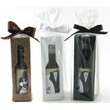 80 Mini Vinho Personalizado Garrafinha 50 Ml. Com Embalagem