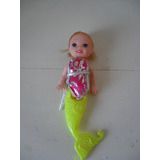 Muñequitas Sirenas Dream Girl Pelo Color Souvenir Gabym
