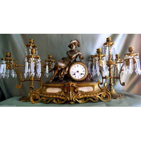 Relógio Garniture Napoleão Iii Estilo. França. De 1890