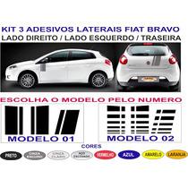 Kit Faixas Fiat Bravo Lateral E Traseira