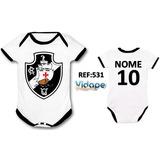 Body Bebe Time De Futebol Personalizado Baby Vasco Da Gama