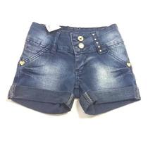 Short Jeans Infantil Menina Azul Escuro By Unna