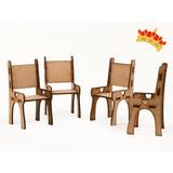 Muebles Para Muñecas - Silla En Fibrofácil X10 Unidades