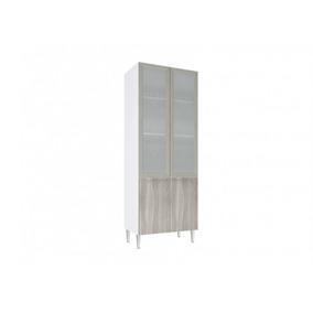 Cristaleira 2portas De Vidro Art In Móveis Cz709 Branco Com