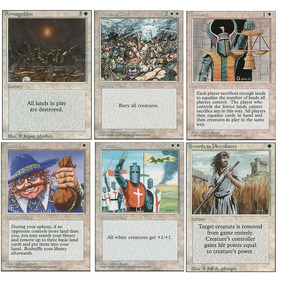 Combo Cartas Brancas Magic 4ª Edição + Deck Protector Ajani