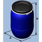 Bombona Plásticos 100 L Tampa Removível Anel Metal Atoxico