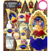 Kit Imprimible La Bella Y La Bestia Fiesta Niñas Princesas