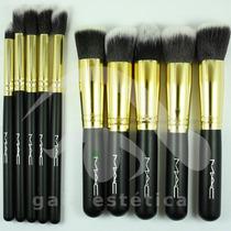 Pinceles Y Brochas De Maquillaje Mac Kabuki, 10 Piezas