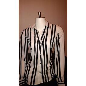 Blusa - Camisa En Chifon Manga Larga