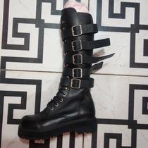 Coturno Vilela Boots Cano Alto Com 05 Fivelas Tam 38 Gotico
