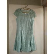 Vestido Encaje Forrado T L .entallado $ 590