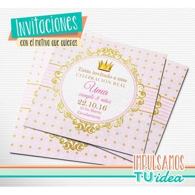 Cumple Princesa - Tarjetita Invitación Princesa Imprimir