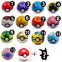 Pokebola Bola + Miniatura Pokemon Promoção Dia Das Crianças