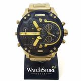 Relógio Diesel Dz7333 Dourado Fundo Preto - Caixa Simples