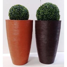 Kit 2 Vasos Oval Moderno Buchinho 65x40 Diversas Cores Bg13