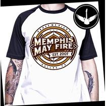Camiseta Raglan Ou Baby Look Memphis May Fire Hc Metalcore