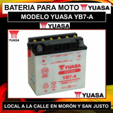 Bateria Yuasa Yb7-a Zanella Hj 125 Y Mas! Incluye El Fluido!