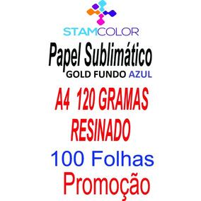 Papel Sublimatico, A4 120g Fundo Azul, Pacote 100 Folhas C3