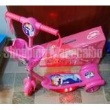 Monopatín Scooter Con Luz Musica Y Cesta De Frozen Cars Toy