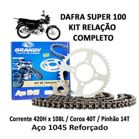 Kit Relação Completo Brandy Dafra Super 100
