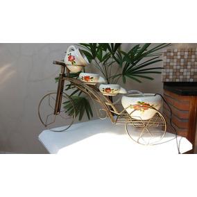 Suporte Fonte De Vaso Bicicleta Decorativa Varanda E Jardim