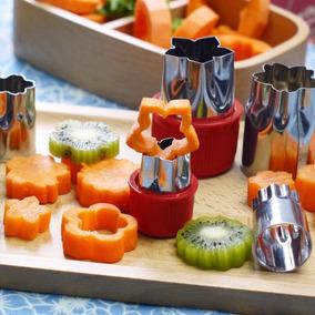 Moldes Cortadores 8pza Fruta Galletas Flor Acero Inoxidable